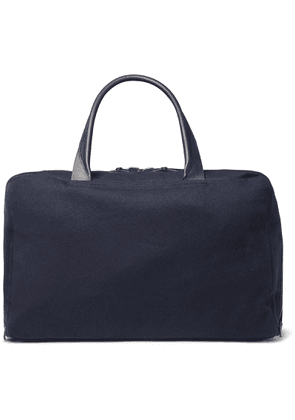 Álvaro - Álvaro 47 Leather-Trimmed Canvas Holdall - Men - Blue