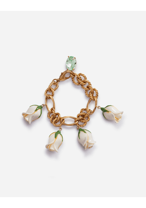 Dolce & Gabbana Bijoux - BRACELET WITH DECORATIVE CHARMS GOLD
