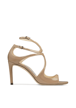 IVETTE Ballet-Pink Patent Leather Strappy Sandals