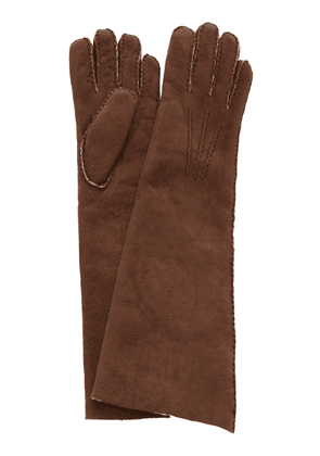 Maison Fabre Fleece-Trimmed Shearling Gloves
