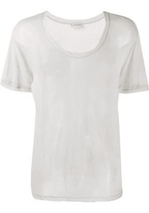 Saint Laurent sheer relaxed T-shirt - Grey