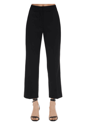Flared Tailored Stretch Wool Pants