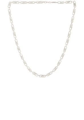 Ambush Sling Snap Necklace in Silver - Metallic Silver. Size all.