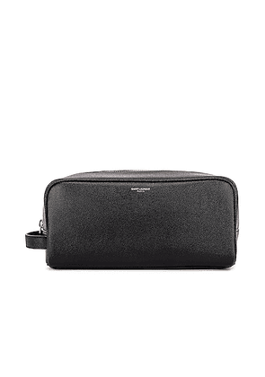 Saint Laurent Cosmetic Pouch in Black - Black. Size all.