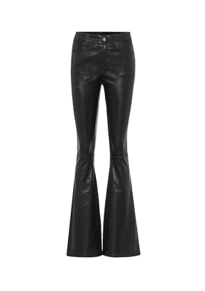 Le High Flare leather jeans