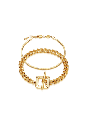 Gold Chains Rule Bracelet Set