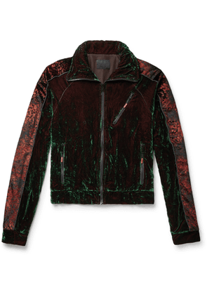 99%IS- - Oversized Iridescent Velvet Track Jacket - Multi