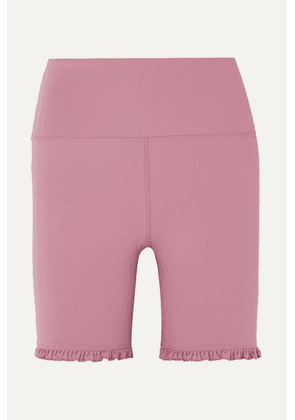 Year of Ours - Rita Ruffled Stretch Shorts - Baby pink
