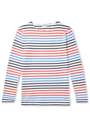 Armor Lux - Striped Cotton-jersey T-shirt - White