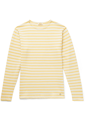 Armor Lux - Striped Cotton T-shirt - Yellow