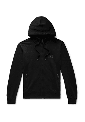 DOLCE & GABBANA - Loopback Cotton-Jersey Zip-Up Hoodie - Men - Black - IT 46