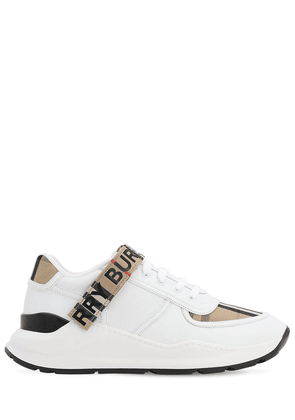 Ronnie Check Leather Low-top Sneakers