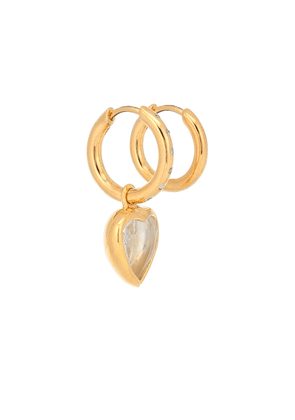 Exclusive to Mytheresa – Mismatched 18kt gold-plated hoop earrings with diamonds
