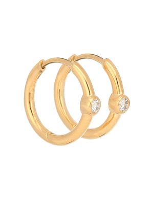 Love gold-plated hoop earrings with diamonds