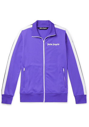 Palm Angels - Striped Logo-print Tech-jersey Track Jacket - Purple