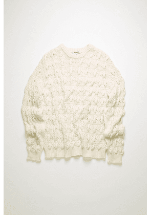 Acne Studios FN-MN-KNIT000138 Champagne beige  Cable-knit sweater