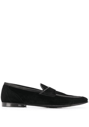 Dolce & Gabbana leather-trimmed loafers - Black