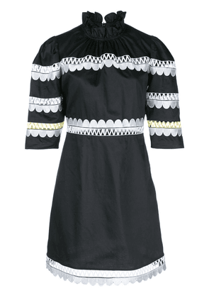 Cynthia Rowley Whitley scalloped embroidered dress - Black