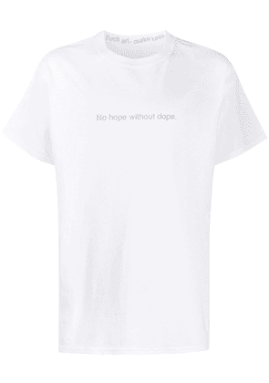 F.A.M.T. quote-print crew neck T-shirt - White
