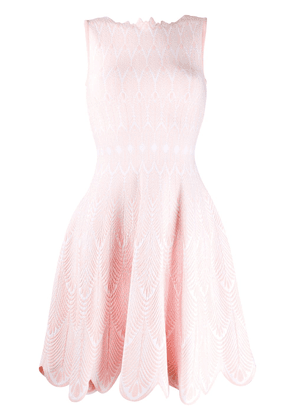 Antonino Valenti scalloped trim day dress - PINK