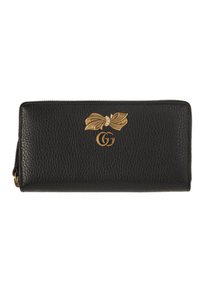 Gucci Black Bow Zip-Around Wallet