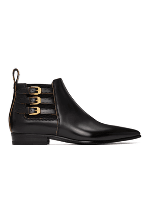 Gucci Black Quebec Ankle Boots