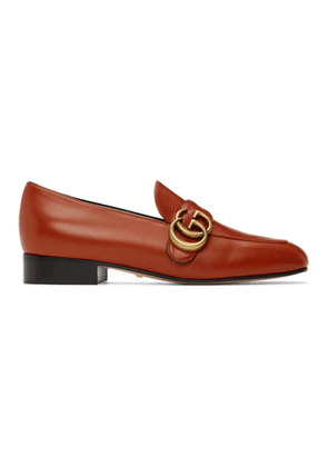 Gucci Orange Marmont Loafers