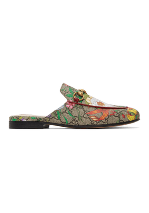 Gucci Multicolor GG Flora Princetown Slippers