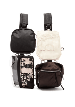 Raf Simons X Eastpak - Multi-pouch Technical-canvas Backpack - Mens - Black Multi