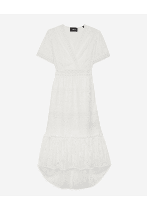 The Kooples - Light long dress with lace detailing - WOMEN