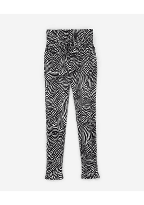 The Kooples - Flowing printed trousers with knotted waist - WOMEN