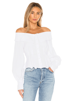 LPA Rey Top in White. Size XS.