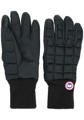 Canada Goose branded padded gloves - Black