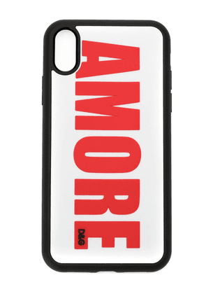 Dolce & Gabbana Amore appliqué iPhone case - Black