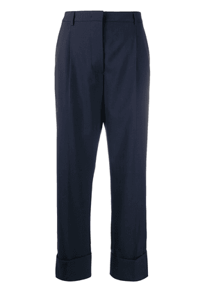 Prada rolled up straight trousers - Blue
