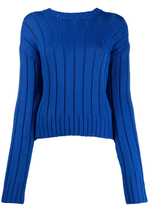 Derek Lam 10 Crosby Iola Neon Sweater - Blue