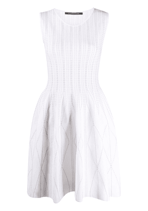 Antonino Valenti flared sleeveless dress - White