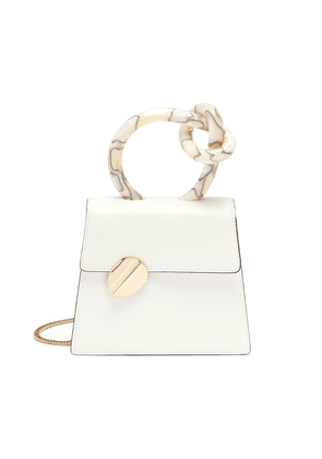 'Brigitta Small' knotted handle leather crossbody bag