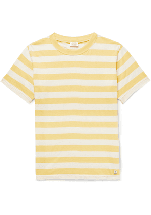 Armor Lux - Striped Cotton And Linen-blend T-shirt - Yellow