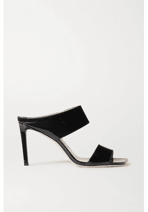 Jimmy Choo - Hira 85 Patent-leather Mules - Black