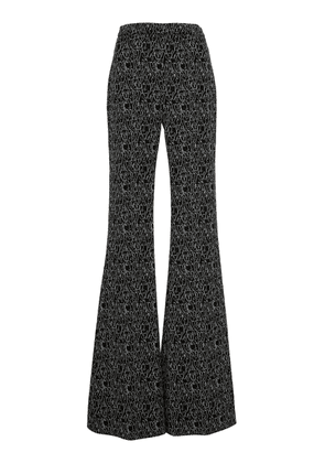 Christian Siriano Face-Print Flared Trousers