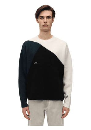 Tri Tone Wool Knit Sweater