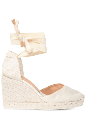 80mm Carina Satin Espadrille Wedges