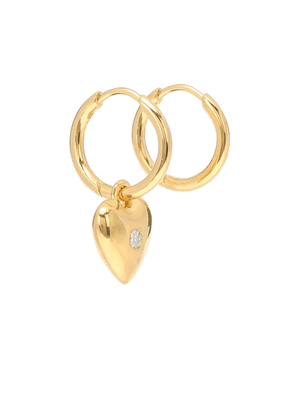 Diamond Heart gold-plated earrings