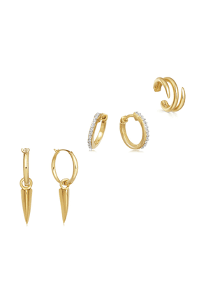 Gold Carry your Claw Earring Set