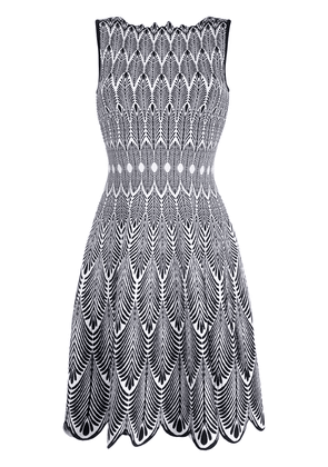 Antonino Valenti feather printed day dress - Black