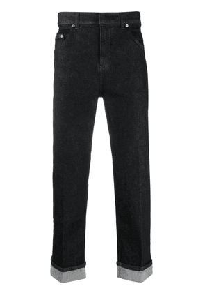 Neil Barrett turn-up straight-leg jeans - Black