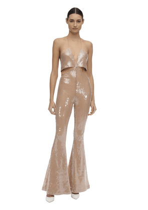 Sequined Jumpsuit W/ Cutout