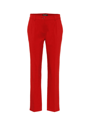 Exclusive to Mytheresa – cotton-blend mid-rise pants