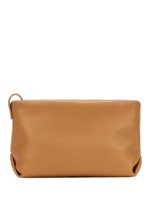Inside Out leather clutch